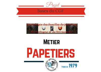 Généalogie des familles papetières de Bretagne et de Normandie