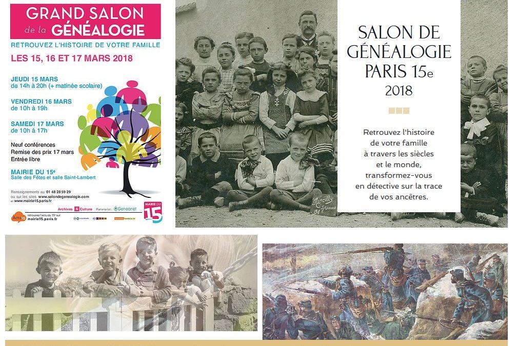 Grand Salon de la Généalogie à la Mairie du XVe arrondissement