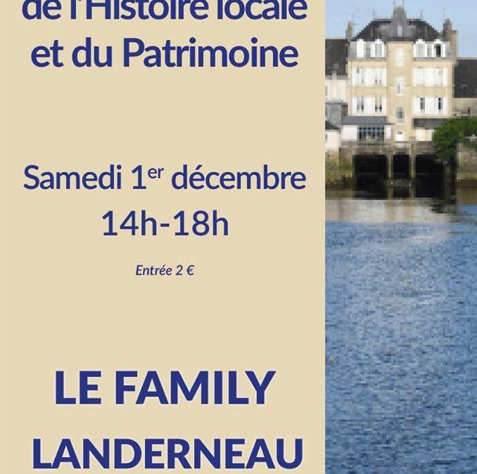 4ème Salon de l'Histoire locale et du Patrimoine – Landerneau – 1 décembre 2018