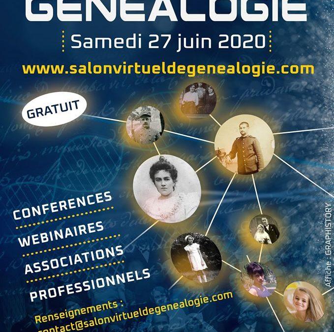 Salon Virtuel de Généalogie du 27 juin 2020